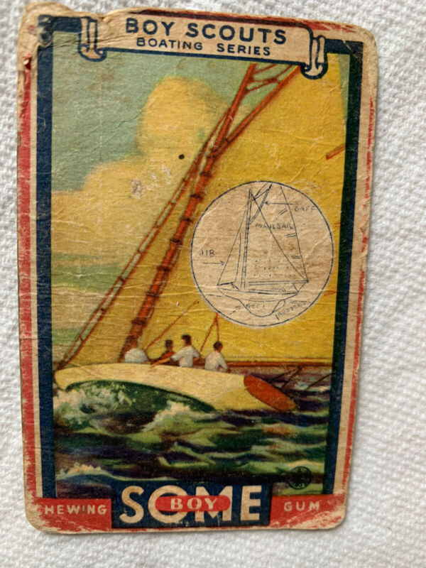 1933 GOUDEY GUM  BOY SCOUTS - #7 The Sailboat