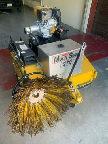 Multisweep 270 Gasoline Industrial Lifttruck Sweeper w/ Kerb Brush Assembly