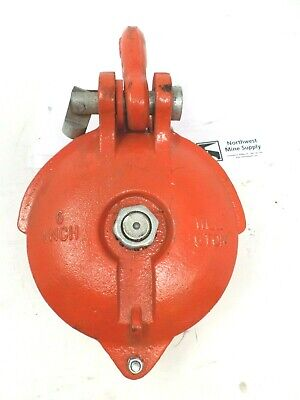 Snatch Block Yarding Pulley Block 58 Inch Wire Rope 6 Sheave Wll 6 Ton