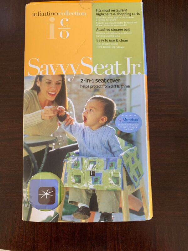 Infantino Savvy Seat Jr. Cart High Chair Cover 2 in 1 Microban Protected unisex