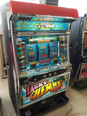 Pachislo Skill Stop Arcade Slot Machine with 200 Tokens Lucky Cherry