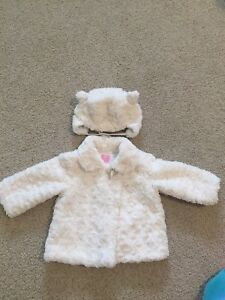 Coat with matching hat 12-18m