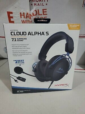 HyperX - Cloud Alpha S Wired 7.1 Surround Sound Gaming Headset For PC/PS4 *MINT*
