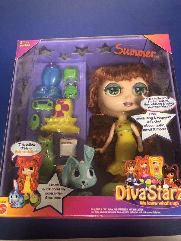 Vintage Mattel Diva Starz Summer  Interactive Talking Doll