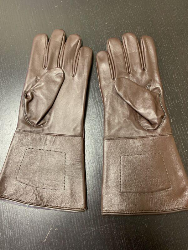 NEW Brown Leather Gauntlet Gloves - Size XL - Excellent, Civil War, Steampunk