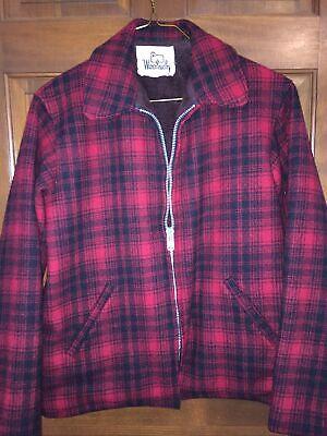 SALE! WOOLRICH Heavy WOOL HUNT coat fleece lined EUC boys sz 20 or wmns M Nice!