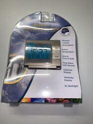 La Crosse WS-8054U Wireless Digital Temperature Alarm Clock Indoor/Outdoor NEW