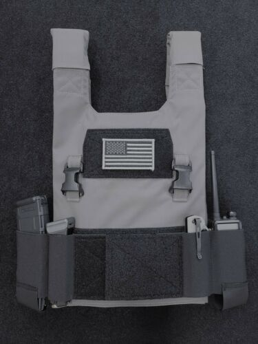 Low Vis Slick 10x12 Plate Carrier | 500D Cordura | Various Options| USA Made
