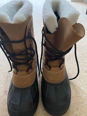 Kamik ALBORG Men's Warm Lined Snow Boots, Beige, UK size 7