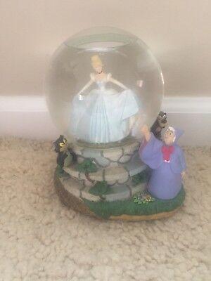 "Disney Cinderella and Fairy Godmother Musical Snowglobe ""Bibbidi Boddibi Boo"""