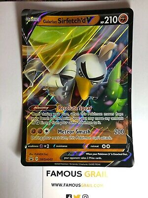Pokemon Galarian Sirfetch/'d V SWSH043 JUMBO Promo Card with toploader