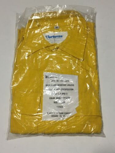 WORKRITE Wildland Yellow Fire Fighting Button Shirt Aramid USA Men's MEDIUM