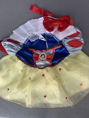 Build A Bear Workshop Disney Princess Snow White Outfit Dress WIth Bow Headband
