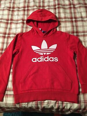Red Adidas Hoody Age 12 - 13