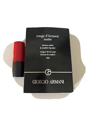 Giorgio Armani Rouge d'Armani Matte Lipstick 400 Travel Size .04 oz new in red
