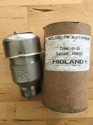 Midland Vacuum Relief Valve A-217-w-ns-bn 217-1-m0 Cf8m Si