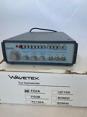 Wavetek Fg2a 0.2hz To 2mhz Function Generator Square Sine Sawtooth Wave New