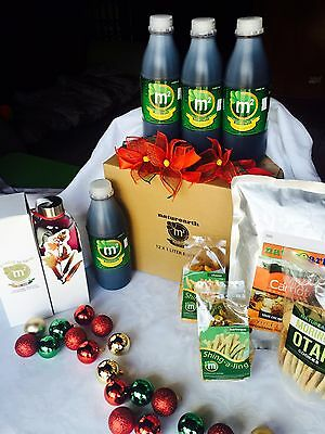 Christmas Box : M2 Malunggay, Okra, Luya Concentrate Tea Drink & Healthy Snacks