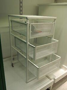 IKEA Bürocontainer Metallregal Metallschrank Schubladenelement Rollcontainer Neu