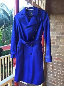Trench Coat- Blue- size8 Arncliffe Rockdale Area Preview