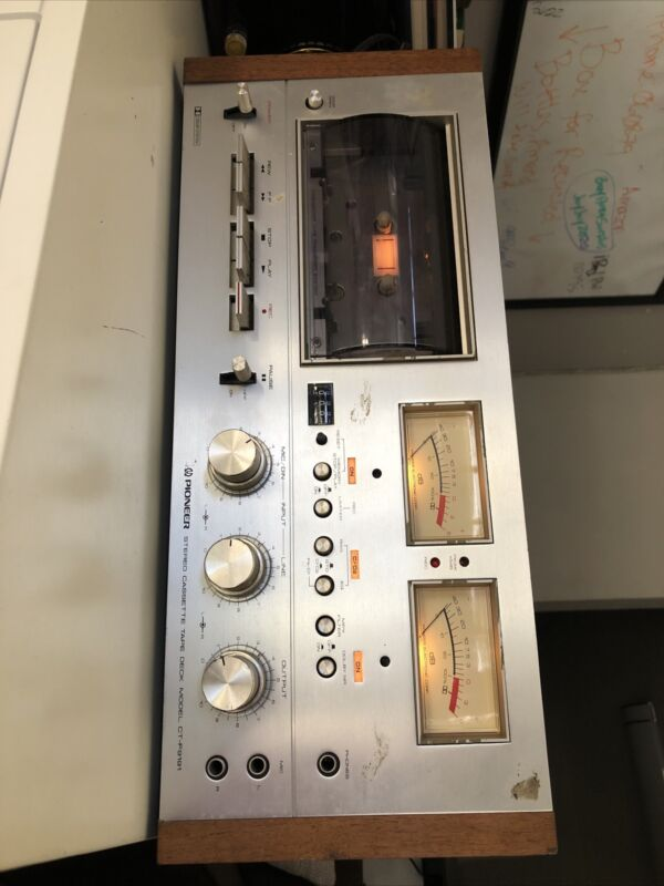 1974 VINTAGE PIONEER CT-F9191 STEREO CASSETTE TAPE DECK TESTED & WORKING