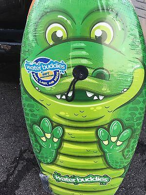 99982218cd New Water Buddies 37 Lightweight Slick Bottom Kids Bodyboard With Leash  CROCODIL