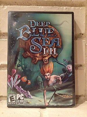 Computer Games - deep blue sea I & II --- 2 action adventure computer games --- new