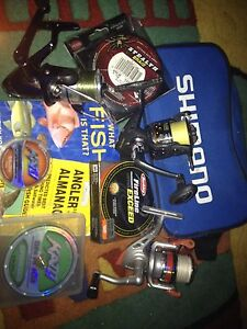 Assorted fishing reels and line Kallangur Pine Rivers Area Preview