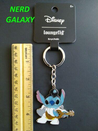 DISNEY Lilo And Stitch ELVIS Enamel Keychain LOUNGEFLY! NEW!