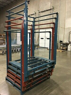 Lot Of 5 Warehouse Storage Racks Nesttainers