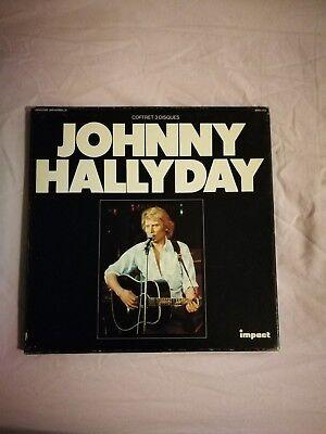 "J.HALLYDAY "" coffret 3 disques "" Impact état neuf complet, occasion d'occasion  Boussu"
