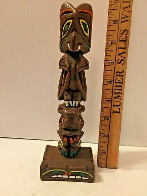 VINTAGE CREED TOTEM POLE ANCHORAGE ALASKA