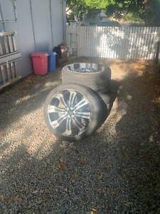 Four used mag wheels to suit 4x4 vehicles
