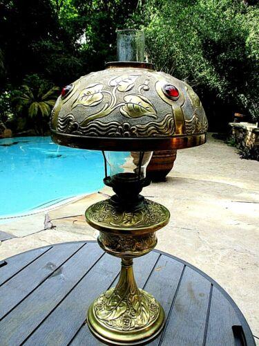 Antique Brass Kerosene Lamp B.H. ?