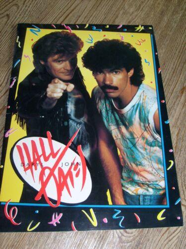 Hall & Oates Concert Program 1985  Big Bam Boom Tour  Daryl Hall  John Oates