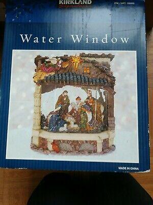Kirkland Christmas Water Window Lights music Nativity Away in a Manger