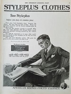 n Kleidung Bekleidung Anzug Mode Anzug Original Anzeige (1920 Herren Bekleidung)
