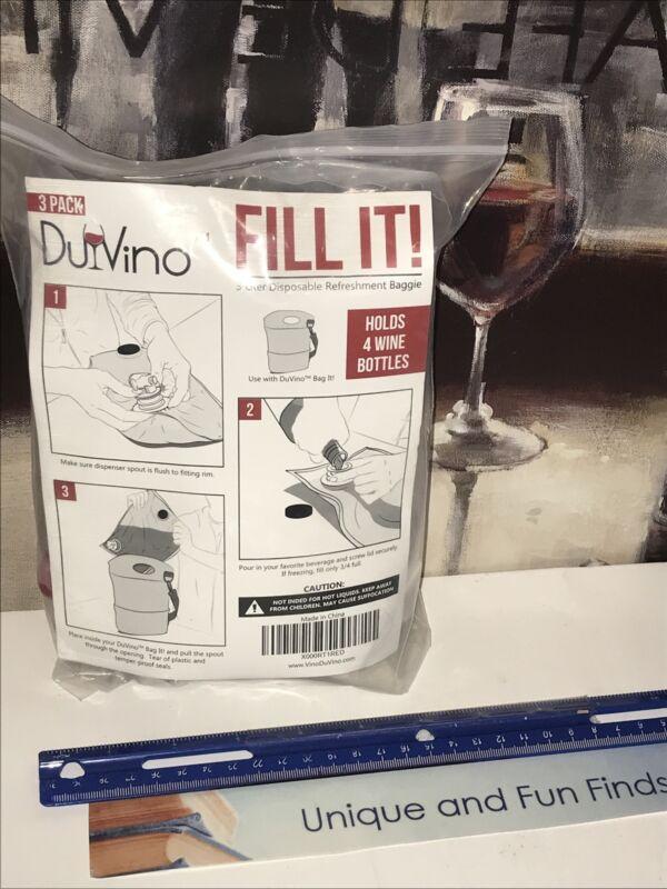 3-Pack Wine Purse Refill Bags - 3 Liter BIB Bags Du-Vino Fill It