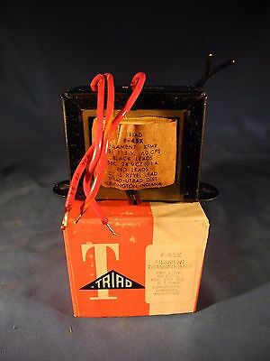 Triad F-45x Filament Transformer 115v 60cps Sec 24v Ct Nib
