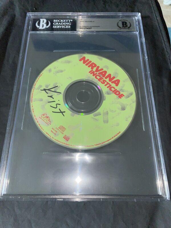 Krist Novoselic Signed Incesticide CD Slabbed Beckett