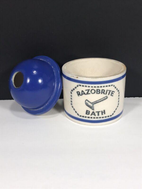 Vintage Ceramic Razobrite Razor Wash Jar