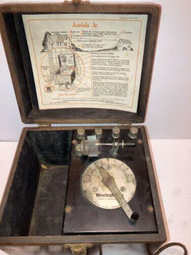 1921 Westinghouse Aeriola Jr  Radio Crystal Set Early Model Baldwin Headset