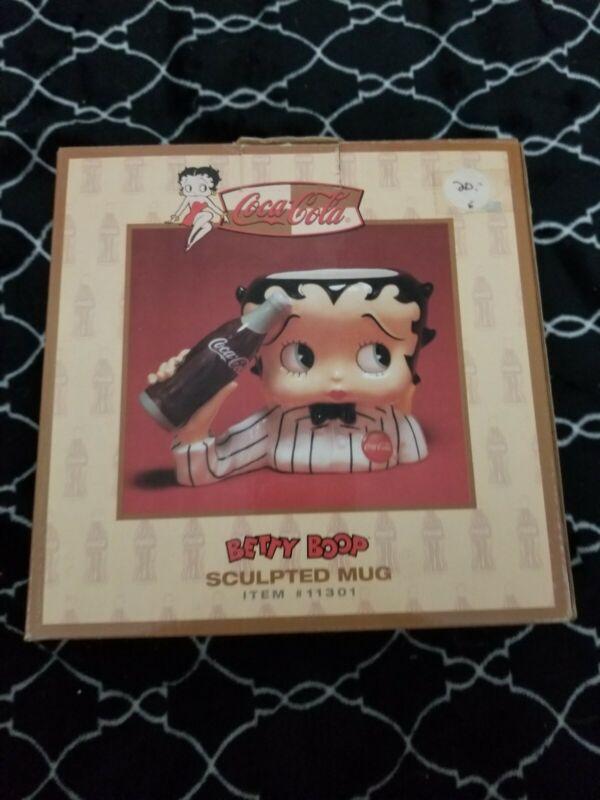 Vandor Coca-Cola Betty Boop Sculpted Mug Cup New In Box