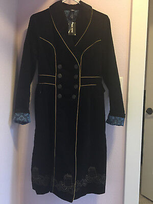 NEW w/Tag Hot Topic Doctor Who Embroidered TARDIS Corduroy Trench Coat