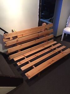 Double wooden futon frame