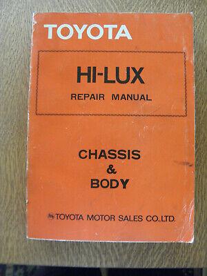 TOYOTA Hi-Lux Repair Manual Chassis & Body 1978 Japan