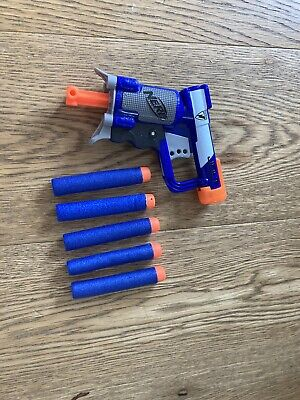 NERF N-Strike Elite Jolt Soft Dart Gun Blaster Gun - A0707EU6 Includes 5 Darts