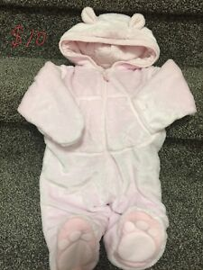 Baby girl cozy bear outfit