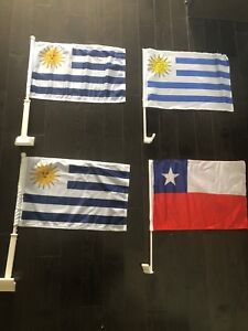 World Cup Flags Uruguay / Argentina / Chile