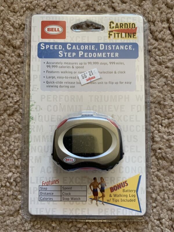 Bell Sports speed calorie distance step pedometer cardio fitline NEW SEALED 2005